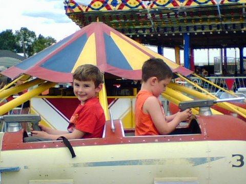 Eric & Trevor on ride
