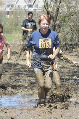 Kathryn through mud pit