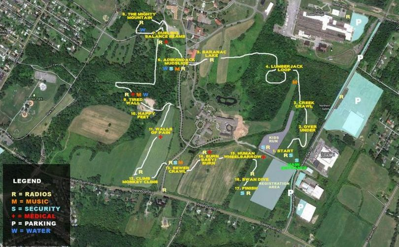 Mighty Run Course Map