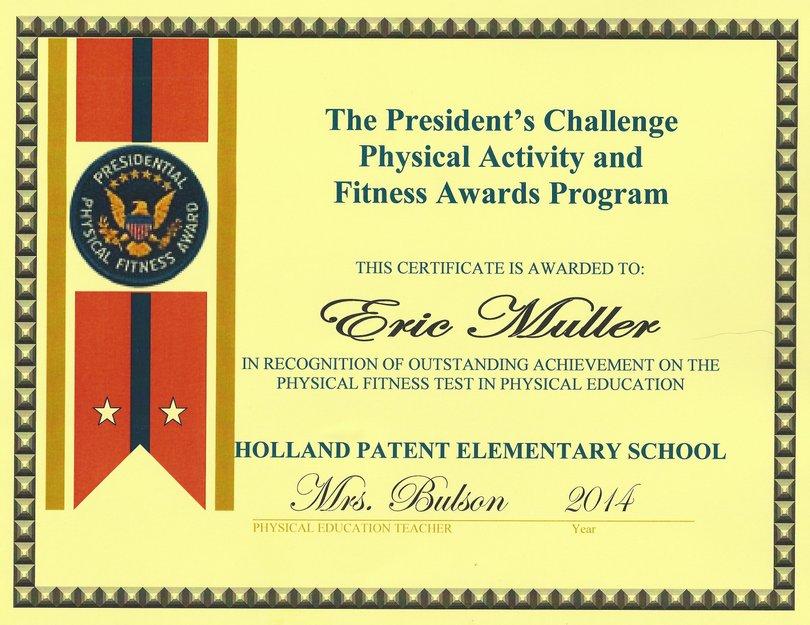 President's Fitness Award