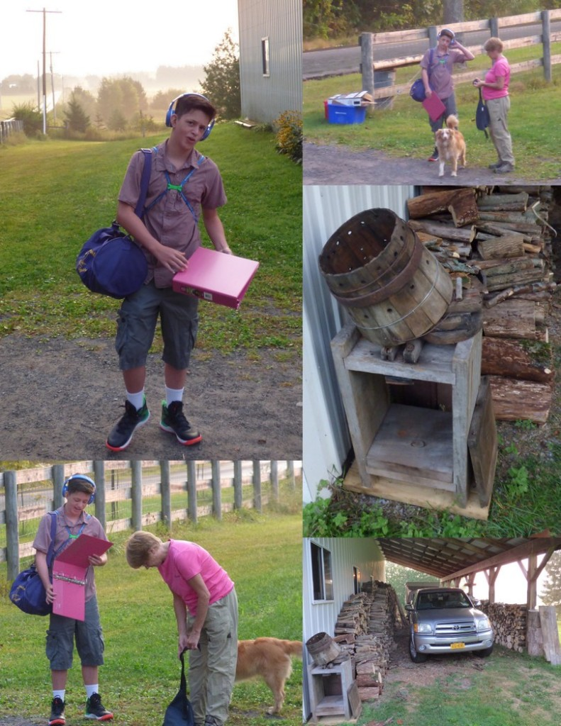 2015-09-08 1st Day of 7th Grade1 (Labor Day Weekend, 7th Grade, Woodpile and Cider Press)