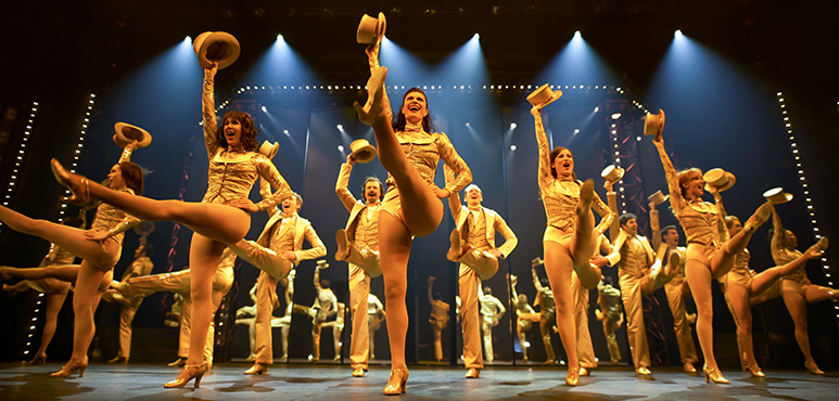 Members of the company in A Chorus Line. Photography by David Hou.